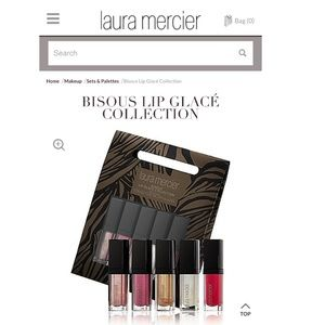 Laura Mercier Bisous Lip Glacé Collection NWT